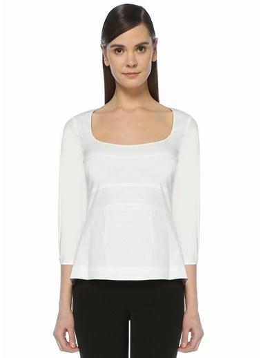 Brock Collection Bluz Beyaz
